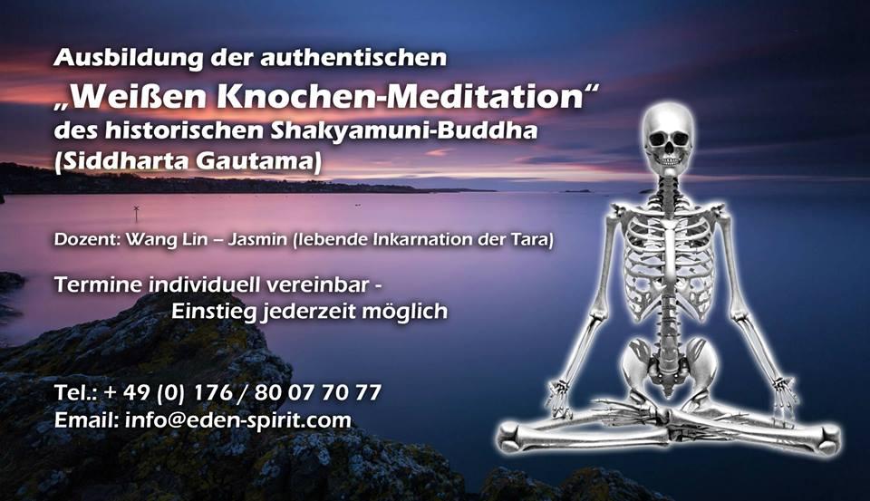 """Kostenfreier Schnupperkurs: """"Weiße Knochen-Meditation"""""""